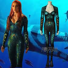Aquaman Mera Jumpsuit cosplay Costume <b>adult Women</b> Cosplay ...