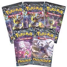 Pokemon Cards - Sun & Moon Lost Thunder - Booster <b>Packs</b> (<b>5</b> ...