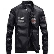 <b>PU Leather Military</b> Jacket | Fashion in <b>2019</b> | Pilot leather jacket ...
