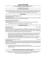 free culinary supervisor resume example