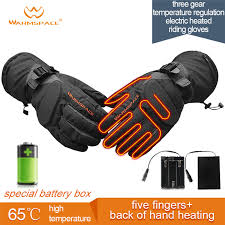 <b>Smart Electric Heating</b> Gloves,3M Waterproof 6xAA Battery Self ...