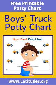 potty training chart boys truck acn latitudes boys truck potty chart
