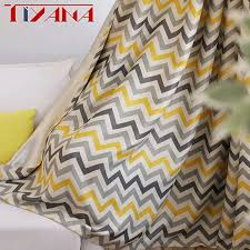 Modern <b>Geometric</b> Print Blackout <b>Curtains</b> For Living Room ...