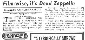 Why <b>Led Zeppelin's</b> 'Song Remains the Same' Movie Got Torched ...