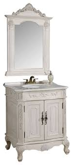 traditional style antique white bathroom:  inch antique white single vanity with mirror  piece traditional bathroom vanities