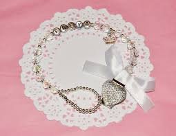 PERSONALISED MAM White Clear <b>Crystal</b> Dummy Clip with <b>Silver</b> ...