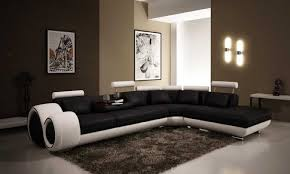 unique long black and white sofas of modern interior living room that is decorated by black furniture black white furniture