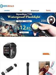 NewFrog: <b>Skywolfeye</b> T199 Waterproof Flashlight only $12.83 | Milled