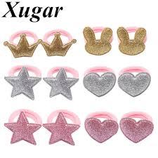 Xugar <b>12 Pcs</b>/<b>lot Hair Accessories</b> Hair Scrunchies Glitter Rabbit ...