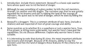 writing lesson beowulf essay