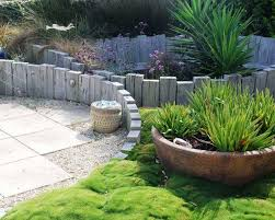 patio wall design creative creative landscape design rustic style old wood logs retaining walls