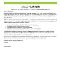 best public relations cover letter examples livecareer edit