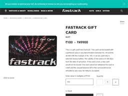 Fastrack   Gift Card Balance Check   Balance Enquiry, Links ...