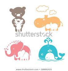Стоковая векторная графика «Cute Animals Family Mom Bear ...