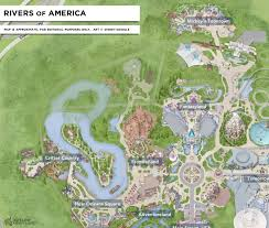 disneyland s rivers of america prepare to set sail one last time and below a map an overlay of the expected changes