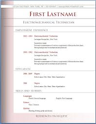 curriculum vitae resume word format template – microsoft word    curriculum vitae resume word format template