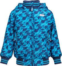 <b>Куртка</b> утепленная для <b>мальчика Barkito</b> синяя с рисунком р.98 от ...