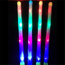 3 Modes Colorful <b>LED Light</b> Up Sticks <b>Flashing Luminous</b> Toy Party ...