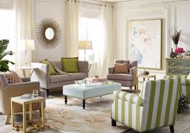 cozy living room design using safavieh furniture plus floral carpet and green stripped armchair chic cozy living room furniture