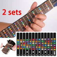 2 sets of <b>guitar scale</b> label <b>sound</b> card <b>stickers</b> self-learning electric ...