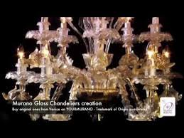 <b>Murano Glass Chandelier</b> - Manufacturing video in a furnace in ...