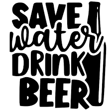 <b>Save Water Drink Beer</b> Decal — Rustic Chalk Decor