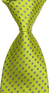 <b>New</b> Classic Yellow <b>JACQUARD WOVEN Silk</b> Men's Tie Necktie ...