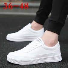 Autumn 37 yards 38 yards men's small white shoes large size ... - Vova