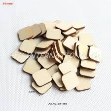 (100pcs/<b>lot</b>) <b>20mm</b> Blank <b>Unfinished</b> Square Wooden Stud Earrings ...