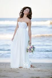 <b>White</b> Lace and Chiffon <b>Summer Beach</b> Long <b>Wedding</b> Dress - VQ