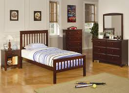 bedroom set main: coaster t     brown red  pc twin size bedroom set main