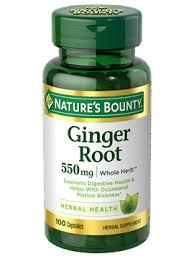 <b>Ginger</b> Root - <b>550 mg</b> (<b>100</b> Capsules)   Nature's Bounty - Be Your ...