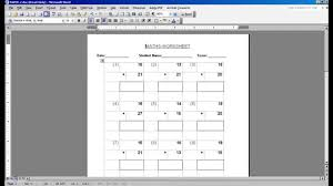 MATH WORKSHEET GENERATOR - YouTube