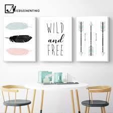 2019 <b>Feather</b> Arrow <b>Cartoon</b> Wall Art Canvas Poster Nordic <b>Nursery</b> ...