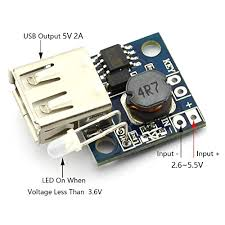 DZS Elec <b>2pcs</b> Mini DC <b>3V to 5V</b> 2A USB Output Step-up Charging ...