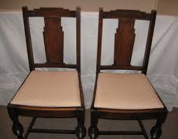 pair of classic art deco style period wooden chairs art deco era furniture