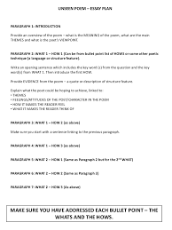 Unseen poem revision handout SlideShare