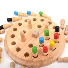 <b>Wooden Memory</b> Training Toy Educational Chess Stick Type <b>Color</b> ...