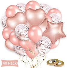 Rorchio 40pcs <b>Rose Gold</b> Balloon <b>Set</b>, <b>12inch 30pcs Rose Gold</b> ...
