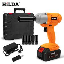 HILDA <b>21V Cordless</b> Impact Electric Wrench <b>Brushless</b> Socket ...