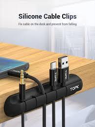 TOPK <b>Cable Organizer Silicone USB</b> Cable Winder Desktop Tidy ...