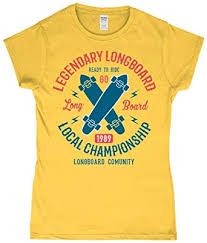 <b>Legendary Longboard</b> – Gildan Softstyle® Ladies Fitted Ringspun T ...