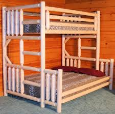unfinished room rustic kids amazing twin bunk bed