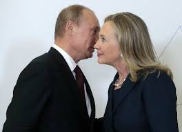 Image result for putin hillary stronger together logo