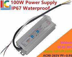 100 W 3000mA IP67 Водонепроницаемый Питание 25 V до 35 V ...