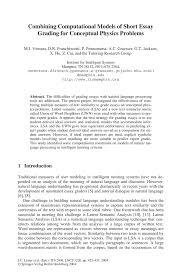 combining computational models of short essay grading for inside