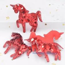 <b>Sequins Unicorn</b> 8Pcs 65mm <b>Embroidery</b> Appliques Crafts Art Decor ...