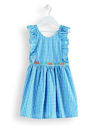 Amazon Brand - RED WAGON Girl's <b>Embroidered Cotton</b> Gingham ...