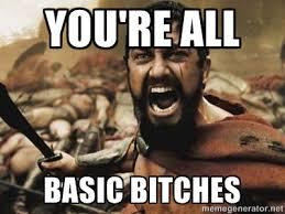 You're all Basic bitches - 300 | Meme Generator via Relatably.com