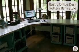 rustic computer desk plans build rustic office desk